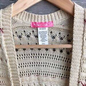 Say What? Shirts & Tops - Open knit beige cardigan girls size small